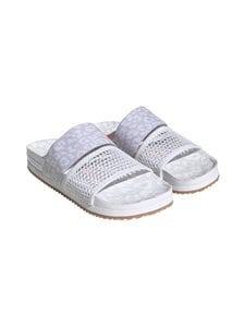 adidas by Stella McCartney - Stella-Lette Slides -sandaalit - CLOUD WHITE/DASH GREY/SOLAR ORANGE | Stockmann