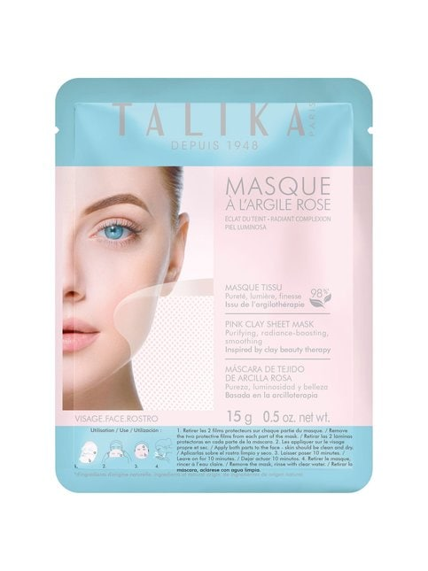 Pink Clay Sheet Mask -kasvonaamio 15 g