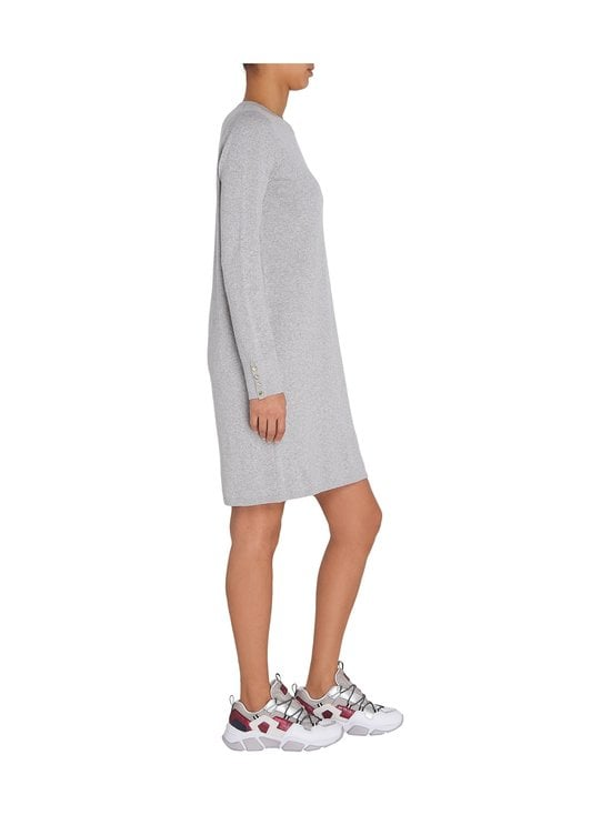 Tommy Hilfiger - Soft Cotton Dress -mekko - PKH LIGHT GREY HEATHER | Stockmann - photo 4