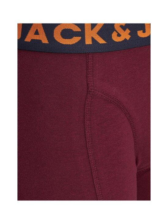 JACK & JONES junior - JACLICHFIELD TRUNKS -bokserit 3-Pack - DARK GREY MELANGE DETAIL:BURGUNDY - NAVY BLAZER | Stockmann - photo 3
