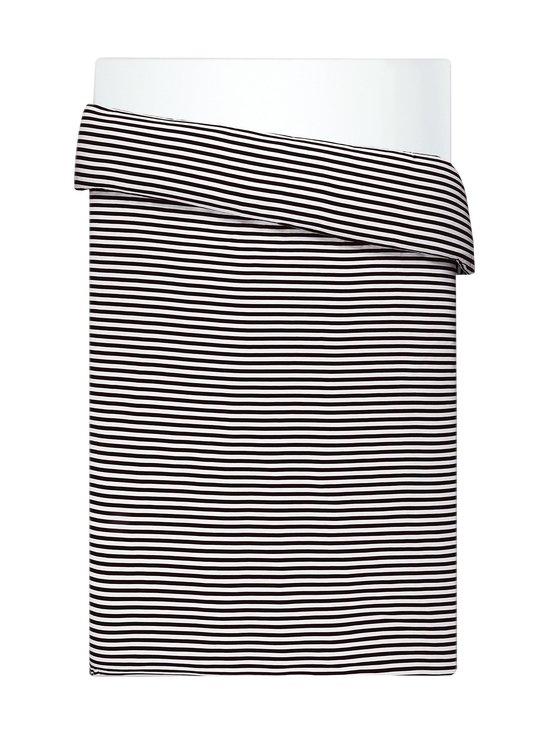 Marimekko - Tasaraita-pussilakana 150 x 210 cm - MUSTA/VALKOINEN | Stockmann - photo 1