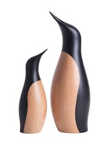 ARCHITECTMADE - Penguin Small -koriste - NATURAL AND BLACK PAINTED | Stockmann