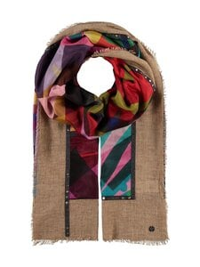 Fraas - Puuvilla-silkkihuivi - 180 CAMEL | Stockmann