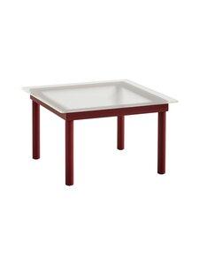 HAY - Kofi-pöytä 60 x 60 cm - BARN RED / CLEAR REEDED GLASS   Stockmann