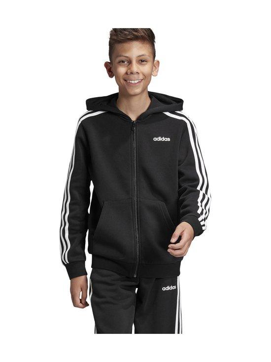 adidas Performance - Essentials 3 Stripes Hoodie -huppari - BLACK/WHITE | Stockmann - photo 4