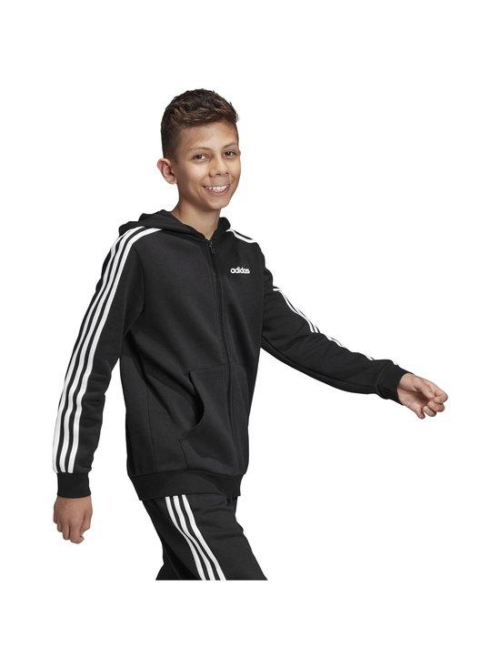 adidas Performance - Essentials 3 Stripes Hoodie -huppari - BLACK/WHITE | Stockmann - photo 7