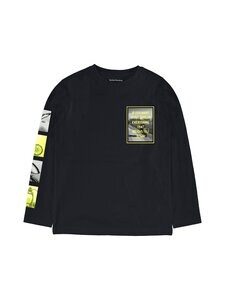 Nukutavake - L/s Motor T-shirt Sleeve Prints Biker Slogan Front -paita - BLACK 75 | Stockmann