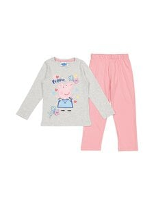 Peppa Pig - Peppa Pig -pyjama - LIGHT GREY MELANGE/SEA PINK | Stockmann