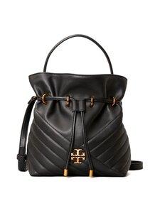 Tory Burch - Kira Chevron Mini Bucket Bag -nahkalaukku - BLACK | Stockmann