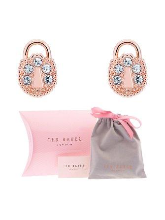 Pamza Mini Pave Padlock earrings - Ted Baker London