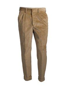 Ami - Pantalon Carotte A Plis -vakosamettihousut - BEIGE/250 | Stockmann