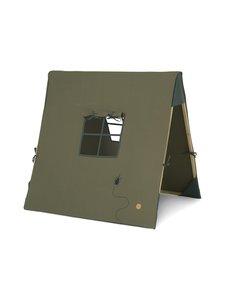 Ferm Living - Tent with Beetle Embroidery -leikkiteltta - DARK OLIVE GREEN | Stockmann