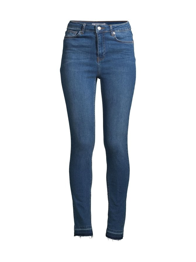 Skinny High Waist Open Hem Jeans Tall -farkut