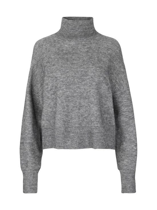 Samsoe & Samsoe - Nola T-Neck -villaneule - DARK GREY MEL | Stockmann - photo 1