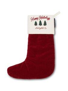 Lexington - Happy Holidays Velvet Stocking -joulusukka - RED/WHITE | Stockmann