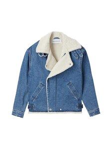 Calvin Klein Jeans - Sherpa Moto Denim -takki - 1A4 BB194 - MID BLUE | Stockmann