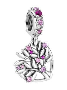 Pandora - Pink Heart Family Tree Dangle Charm -riipus - PINK | Stockmann