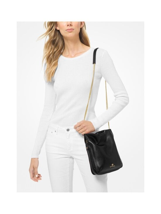 Michael Michael Kors - Tati Medium Leather Chain Shoulder Bag -nahkalaukku - 001 BLACK | Stockmann - photo 3