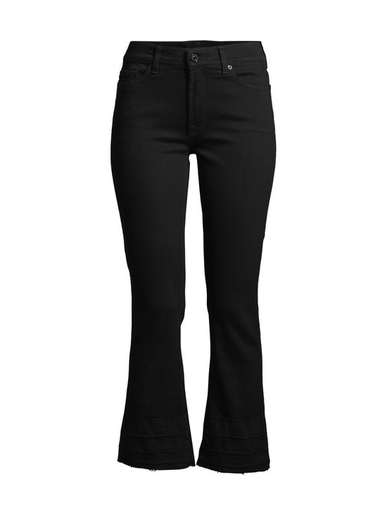 7 For All Mankind - Cropped Boot Unrolled Slim Illusion Fame Jeans -farkut - BLACK | Stockmann - photo 1