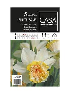 Casa Stockmann - Tasetti narsissi -kukkasipulit - VALKOINEN/LOHENPUNAINEN | Stockmann