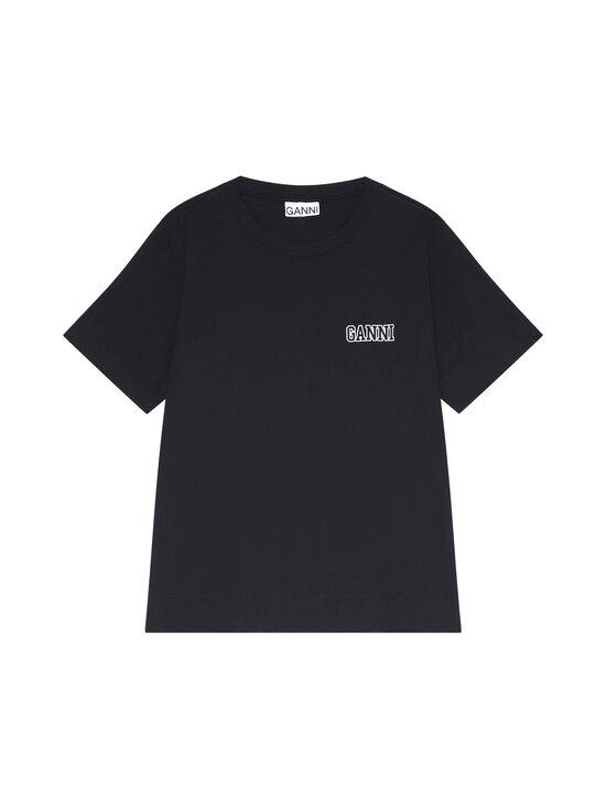 Ganni - Thin Software Jersey T-Shirt -paita - BLACK 099 | Stockmann - photo 1