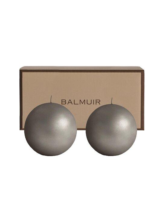 Balmuir - Velvet-pallokynttilä 10 cm, 2 kpl - 115 GREY | Stockmann - photo 1