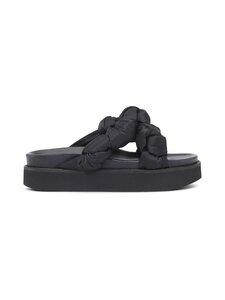 Ganni - Mid Knotted -sandaalit - 099 BLACK | Stockmann