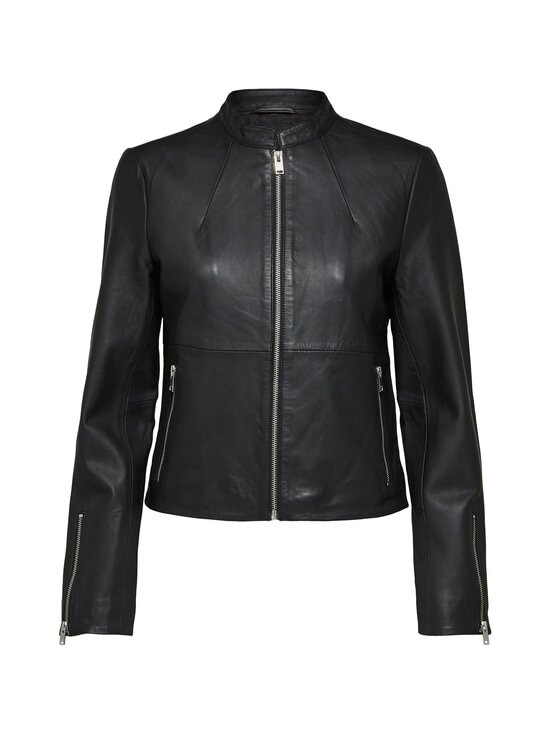 Selected - SlfIBi Leather Jacket -nahkatakki - BLACK | Stockmann - photo 1