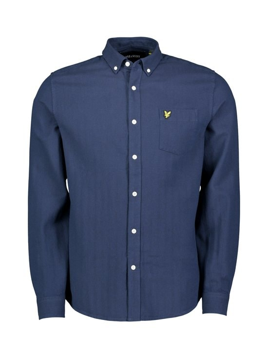 Lyle & Scott - Brushed Herringbone -paita - W126 DARK NAVY/ INDIGO | Stockmann - photo 1