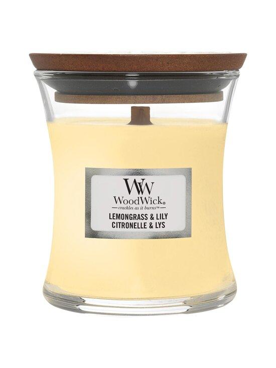 Woodwick - Lemongrass & Lily Mini -tuoksukynttilä - LIGHT YELLOW | Stockmann - photo 1