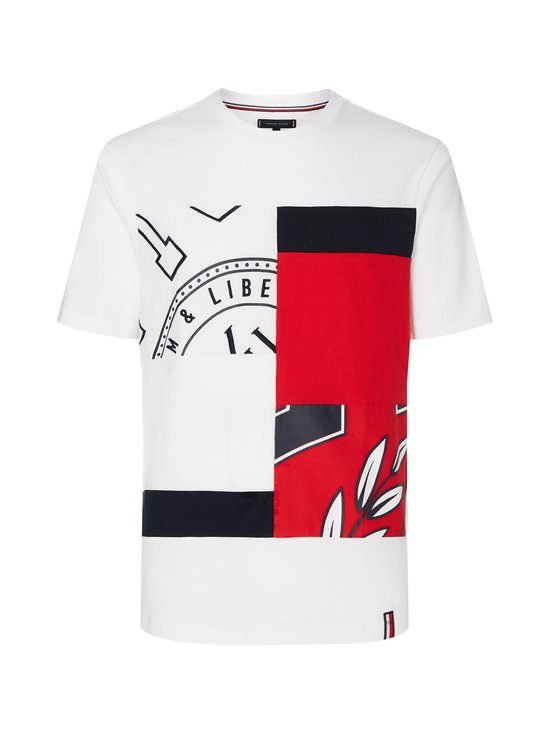 Tommy Hilfiger - Chopped Crest Relaxed Fit Tee -paita - YBR WHITE | Stockmann - photo 1