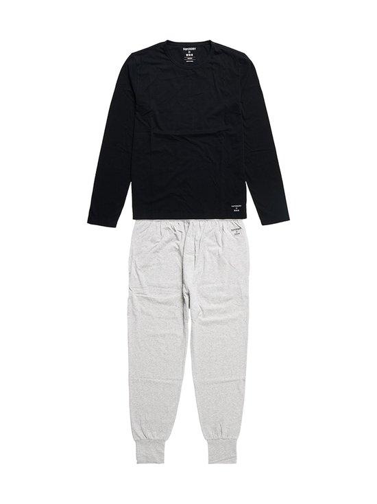 Superdry - Laundry Top & Slim Pant -setti - 4IK BLACK/LAUNDRY LIGHT GREY MARL | Stockmann - photo 1