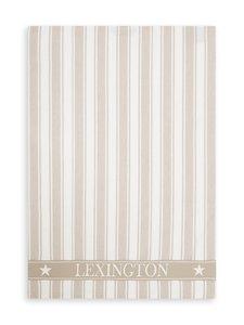 Lexington - Striped Cotton -keittiöpyyhe 50 x 70 cm - BEIGE/WHITE | Stockmann