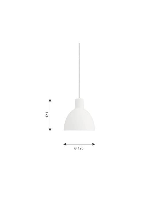 Louis Poulsen - Toldbod-riippuvalaisin Ø 12 cm - WHITE | Stockmann - photo 2