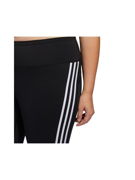 adidas Performance - Believe This 3-Stripes 7/8 Plus Size -treenitrikoot - BLACK/WHITE | Stockmann - photo 5