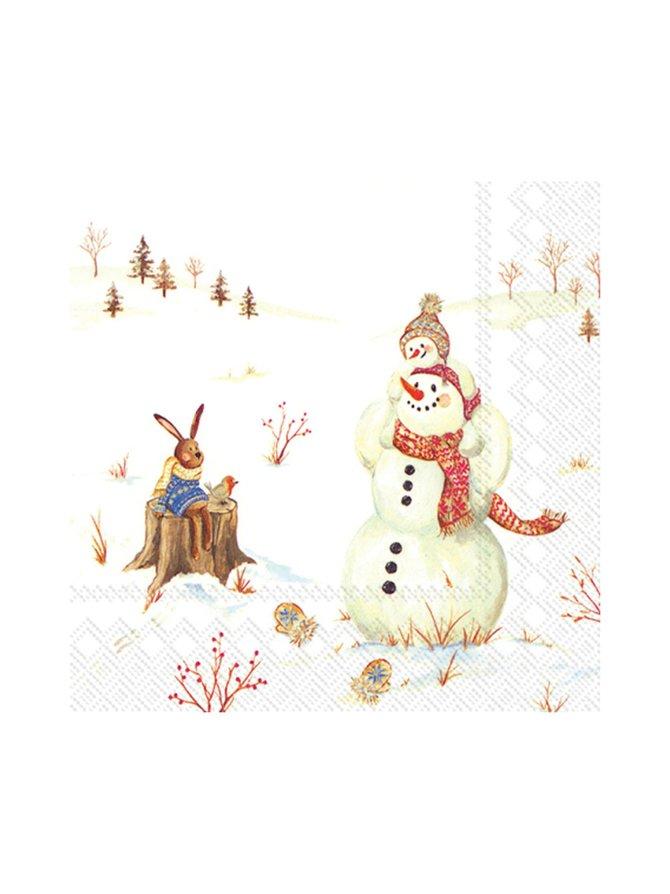 Happy Winter Day -servetti 25 x 25 cm