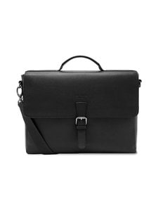 Ted Baker London - Departs Leather Satchel -nahkalaukku - 00 BLACK | Stockmann