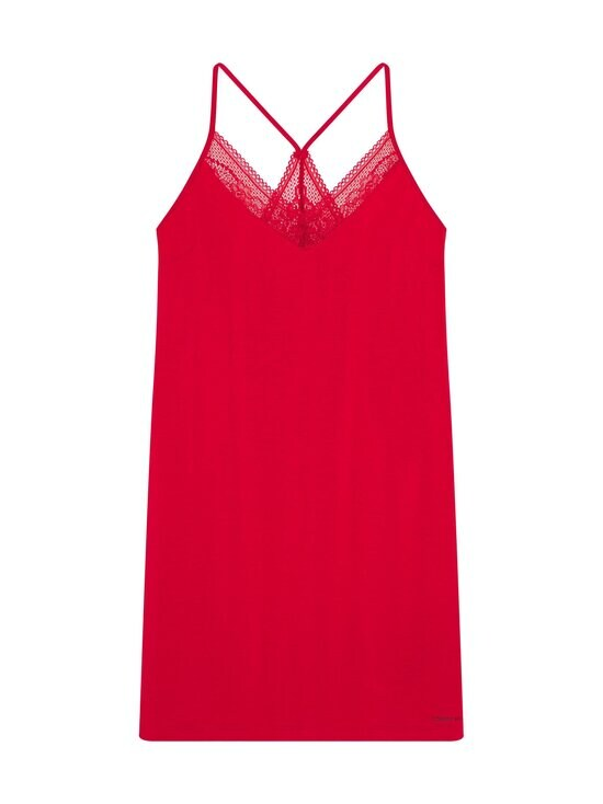 Tommy Hilfiger - Strappy Dress Lace -yöpaita - XLG PRIMARY RED   Stockmann - photo 1