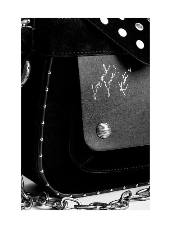 Zadig&Voltaire - Kate Suede Smooth Calfskin With Studs -nahkalaukku - NOIR BLACK | Stockmann - photo 8