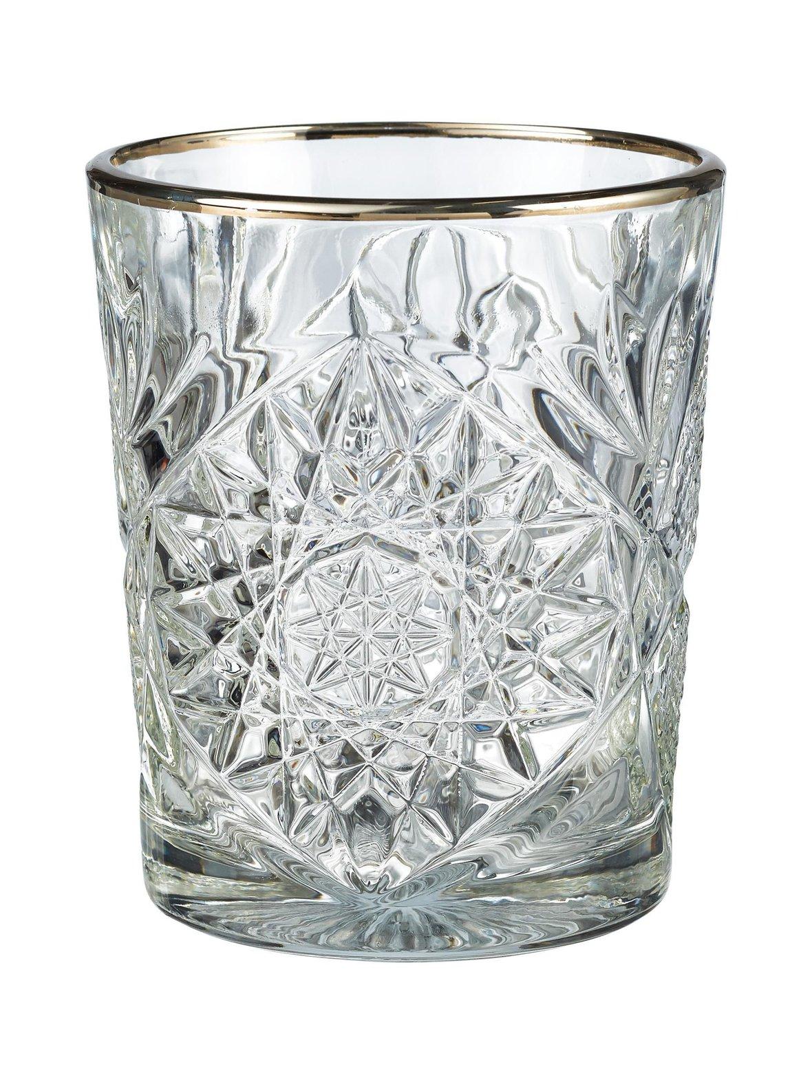 Hobstar – Libbey Hobstar DOF Silver Rim -lasi 350 ml