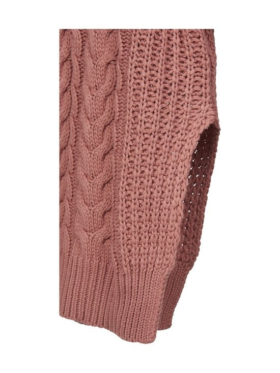 NA-KD - Big Polo Neck Cable Knitted -neule - DUSTY ROSE   Stockmann - photo 3