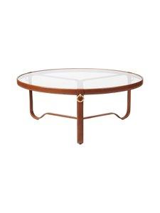 Gubi - Adnet Coffee Table Circular -sohvapöytä ⌀ 103 cm - TAN LEATHER   Stockmann