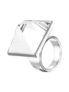 Efva Attling - Pyramid & Stars Ring -sormus - SILVER&DIAMONDS&QRYSTAL QUARTZ | Stockmann
