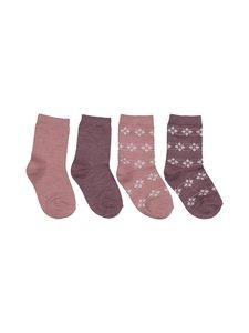 Name It - NmfWak Wool -sukat 4-pack - NOSTALGIA ROSE | Stockmann