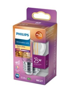 Philips - LED Candle 25W E27 Warm Glow Dimming -lamppu - WHITE | Stockmann