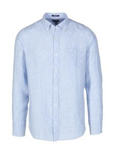 GANT - Regular Fit -pellavakauluspaita - 468 CAPRI BLUE | Stockmann