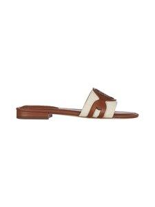 Lauren Ralph Lauren - Alegra Canvas-Leather Slide -sandaalit - KHAKI   Stockmann