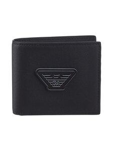 Emporio Armani - Bi-Fold Wallet -lompakko - 81072 BLACK | Stockmann