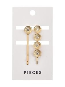 Pieces - PcMyra-pinnit 2-pack - GOLD COLOUR | Stockmann