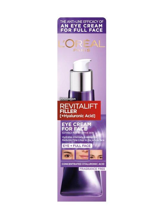 L'Oréal Paris - Revitalift Filler Face Cream -silmänympärysvoide koko kasvoille 30 ml - PUNAINEN   Stockmann - photo 4
